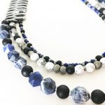 Onxy and Denim Necklace