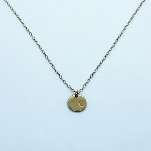 gold filled personalized disc necklace