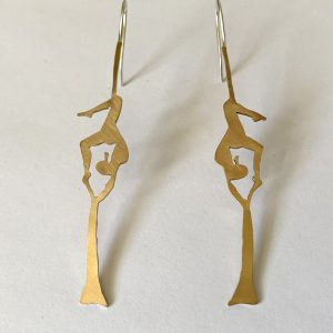 aerial silks earrings jewelry gold