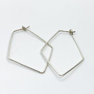 delicate silver diamond hoop earrings